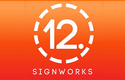 【Indústria de sinalização】 SignWorks de 12 pontos. América